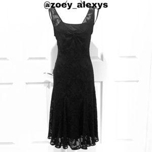 ROZ & ALI Maxi Black Dress Size 8